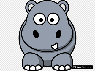 Simple Cartoon Hippo