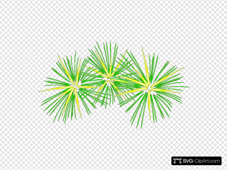 Green And Yellow Fireworks SVG Clipart