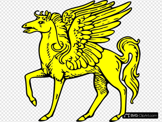 Gold Pegasus Symbol