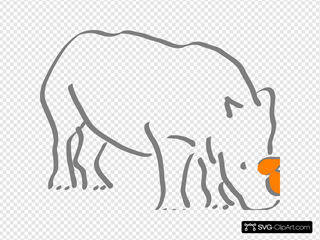 Orange Horned Rhino