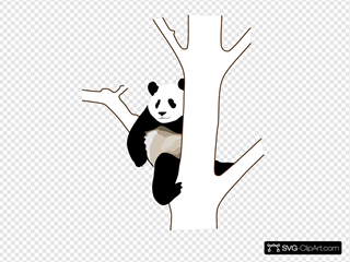 Panda On A Tree SVG icons