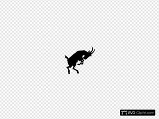 Jumping Goat SVG Clipart