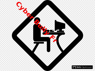 No Cyber Bullying SVG Clipart