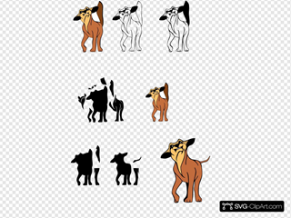 Angry Dog SVG Cliparts