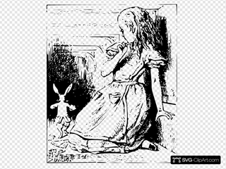 Alice And Bunny Clipart
