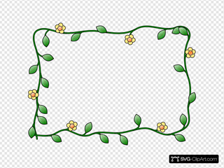 Flower Frame SVG Clipart