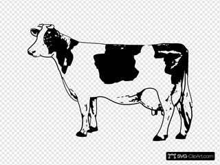 Cow 2 SVG Clipart