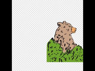 Bear In A Bush