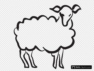 Stylized Lamb Drawing