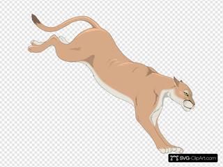 Mountain Lion SVG Clipart