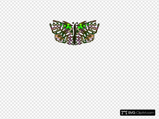 Butterfly From Star SVG Clipart