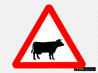 Cattle Crossing Warning