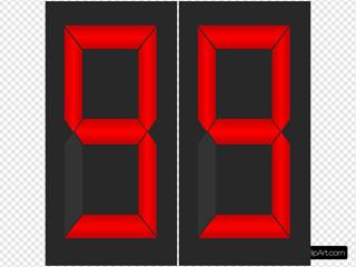 Timer Display 99 SVG Clipart