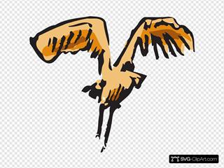Landing Bird Art