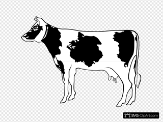 Cow Side View Art