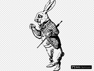 The White Rabbit Clipart