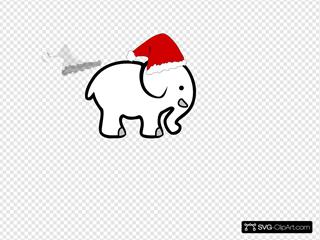 White Elephant With Santa Hat