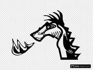 Dragon Head SVG Cliparts