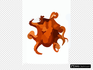 Animal Curiosity Octopus Die Cephalopod Orange SVG Cliparts