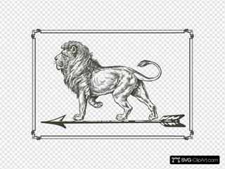 Lion On Arrow