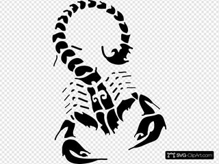 Black Scorpion 2 Clipart