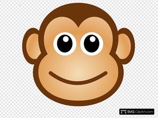 Happy Monkey Face