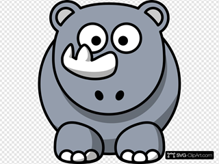 Simple Cartoon Rhino
