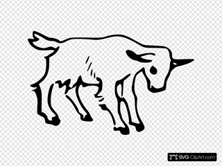 Goat Outline 3