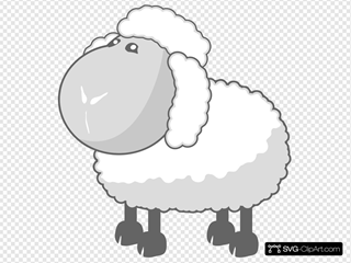 Sheep In Gray SVG Clipart