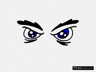 Angry Eyes SVG Clipart