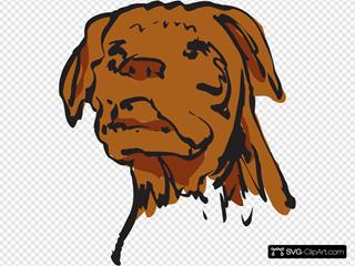 Dog Face Art