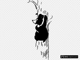Cartoon Bear Up The Tree