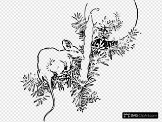 Mouse And Candle SVG Clipart