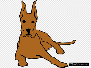 Dog 05 Drawn With Straight Lines