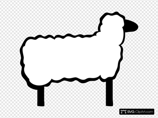 Cartoon Lamb SVG Clipart