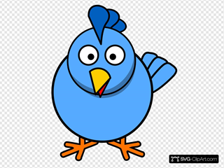 Blue Chick SVG Clipart