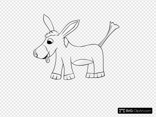 Donkey Outline
