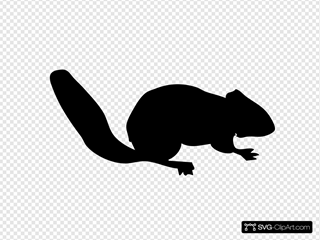 Contour Chipmunk SVG Clipart