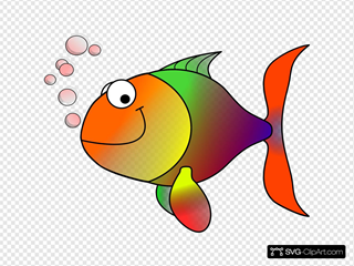 Bubbling Cartoon Fish