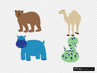 Bear Camel Hippo Snake