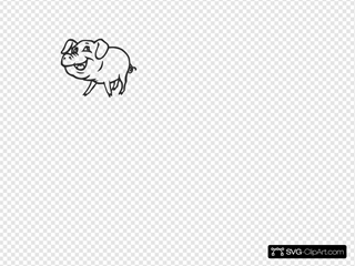 Smiling Pig SVG Cliparts