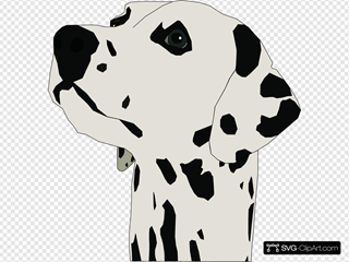 Pes Dalmatin SVG Clipart