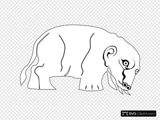 Mythological Beast SVG Clipart