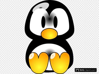Sitting Baby Penguin