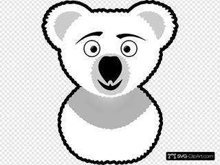 Koala Outline SVG Clipart