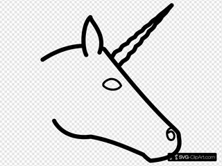 Unicorn Head Profile