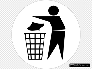 Doctormo Put Rubbish In Bin Signs SVG Clipart