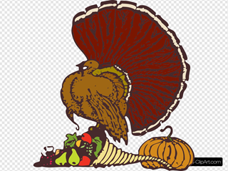 Turkey And Harvest Clipart