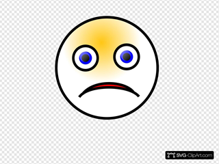 Sad Smiley SVG Cliparts
