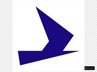 Blue Bird Symbol SVG Clipart